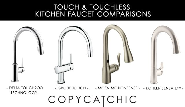 Touch and touchless kitchen faucet comparison - pros and cons