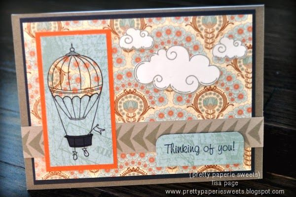 {pretty paperie sweets} - Thinking of You card featuring CTMH Balloon Ride.