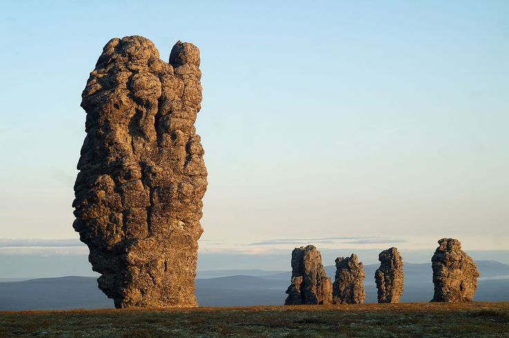 In the Troitsko-Pechorsky District of the Komi Republic there is a flat plateau out of which seemingly burst seven pillars of rock.  They ar...