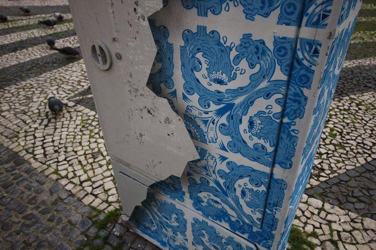 Beautiful Tromp l'oiel on the streets of Lisbon!
