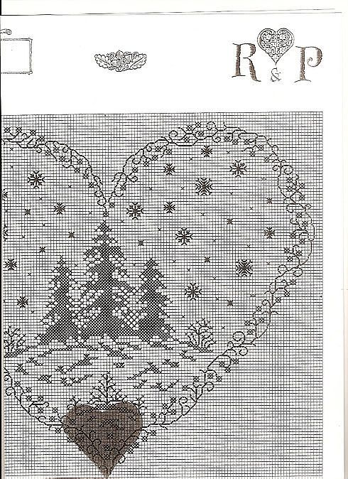 valentine heart , christmas tree embroidered picture | make handmade, crochet, craft