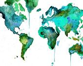Love the world in watercolors!