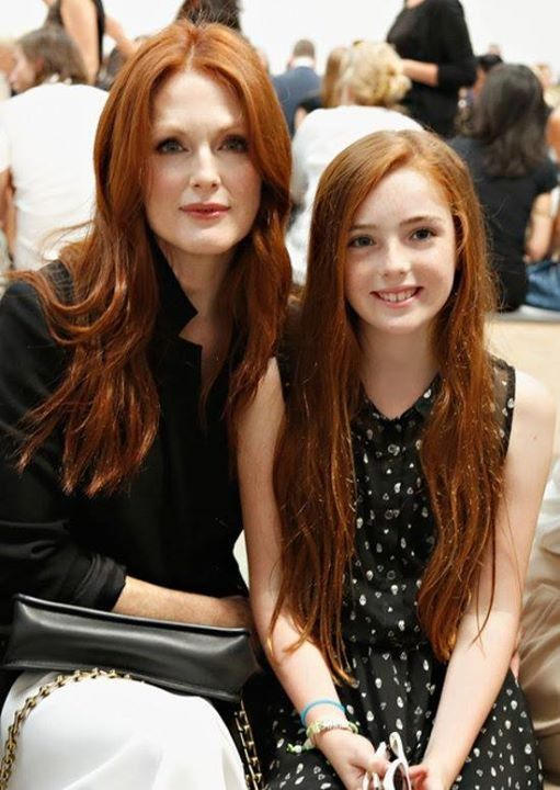 Julianne Moore and her daughter