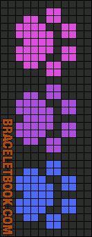 Alpha Friendship Bracelet Pattern #9730 - BraceletBook.com