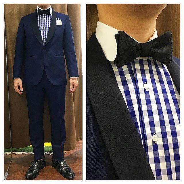 新郎衣装 カジュアルなネイビータキシードでお色直し : 結婚式の新郎衣装に関するお話 カジュアルウェディングまとめ