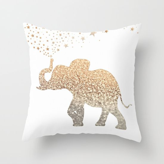 ELEPHANT+Throw+Pillow+by+Monika+Strigel+-+$20.00