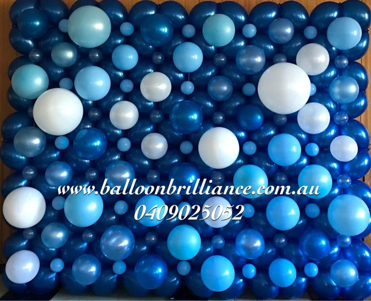 """Blue Bubble Wall"" #christeningballoons #balloonbubblewall #bubblewall #act #cbr #canberraballoons #BalloonBrilliance"