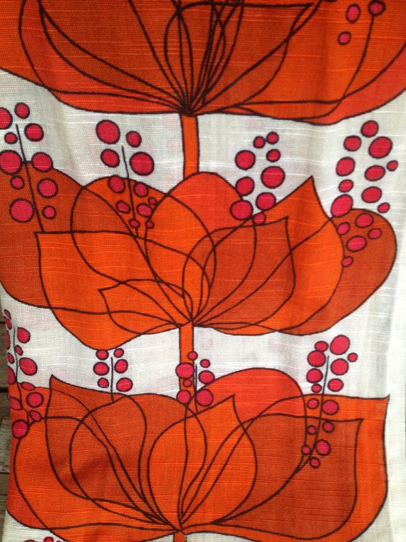 Boras Cotton Helene Wedel modern designer fabric Rio from the 60s. Made in Sweden.