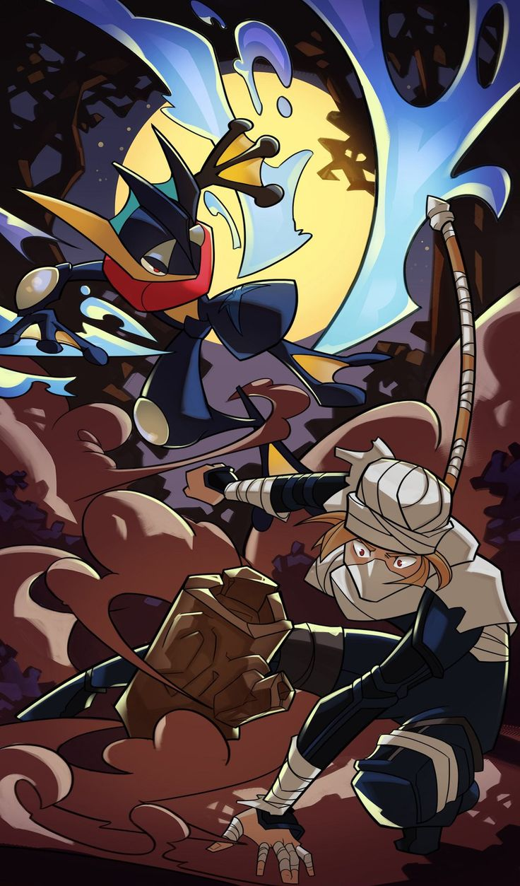 Ninja Battle by SplashBrush on DeviantArt