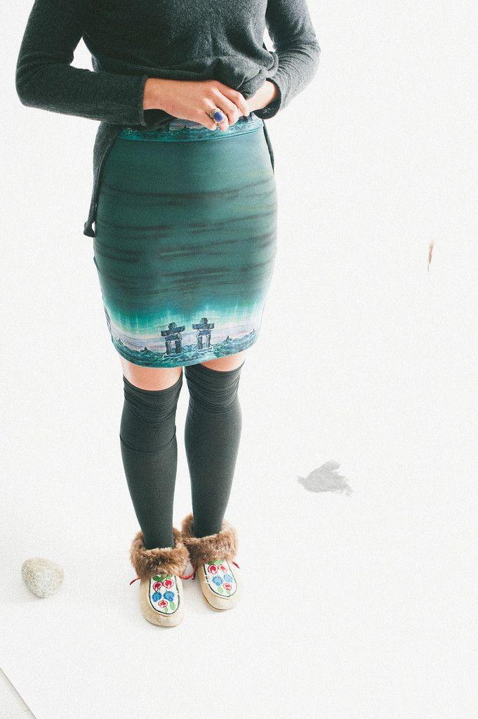 Inukshuk Pencil Skirt $68 CAD www.heiditheartist.ca
