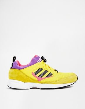 Enlarge Adidas Torsion Response Lite Yellow Trainers