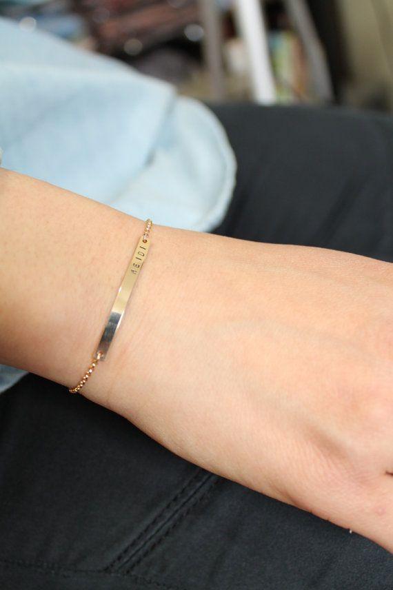 Gold Bar bracciale 36x3mm targhetta bracciale oro riempito