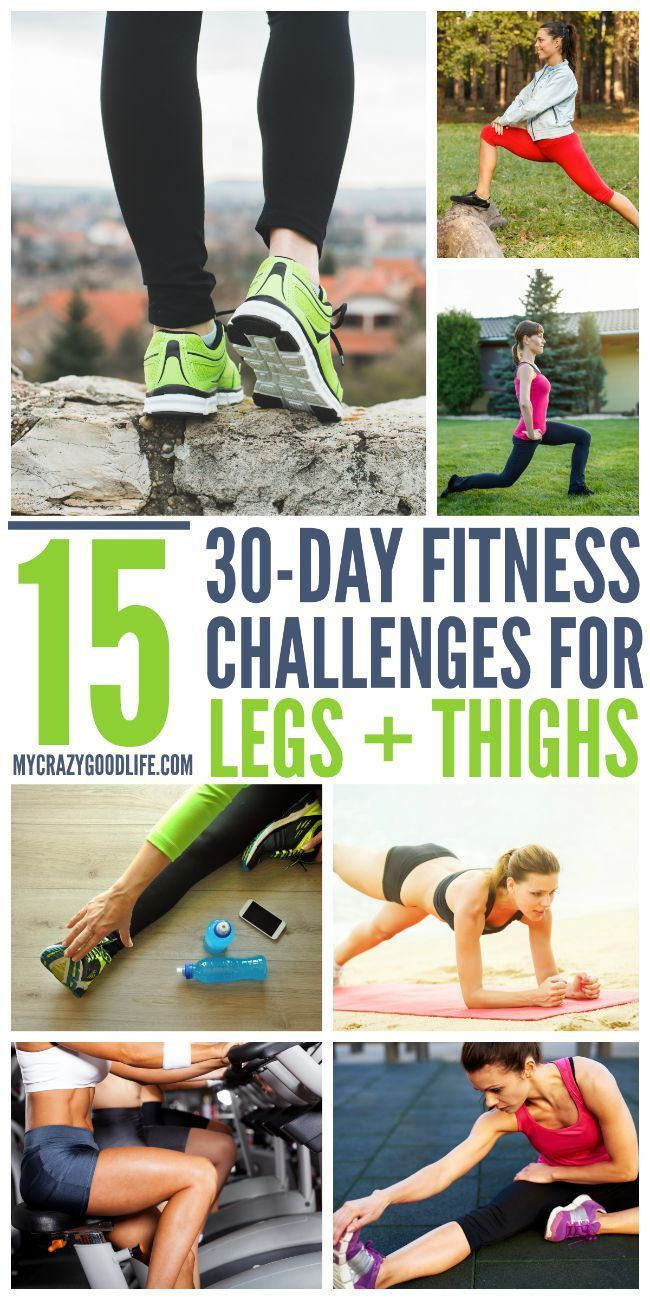 15 Fun 30 Day Challenges for Legs and Thighs
