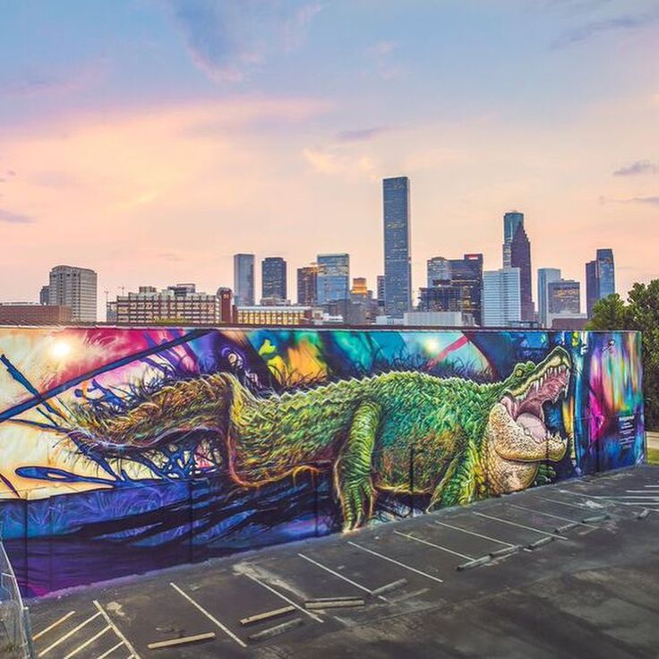 University of Houston Downtown's Recognizable Gator Mural to Be Knocked Down