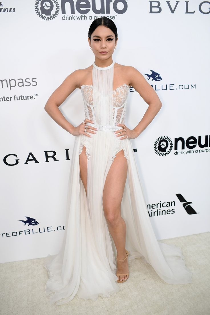 Vanessa Hudgens attends the 25th Annual Elton John AIDS Foundation's Academy Awards Viewing Party in West Hollywood, CA