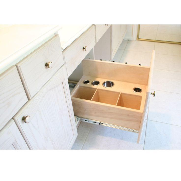 1000 images about vanity valet hair appliance bathroom Bathroom vanity storage organization