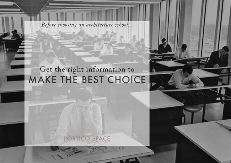 Portico | what to find out before choosing an architecture school