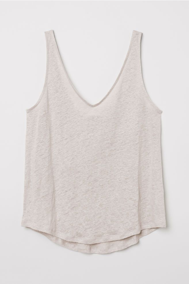 423bf259683 Linen jersey vest top   Things to Wear   Womens sleeveless tops ...