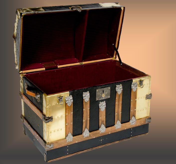 18 Best Restored Antique Trunks Steamer Trunks Images On