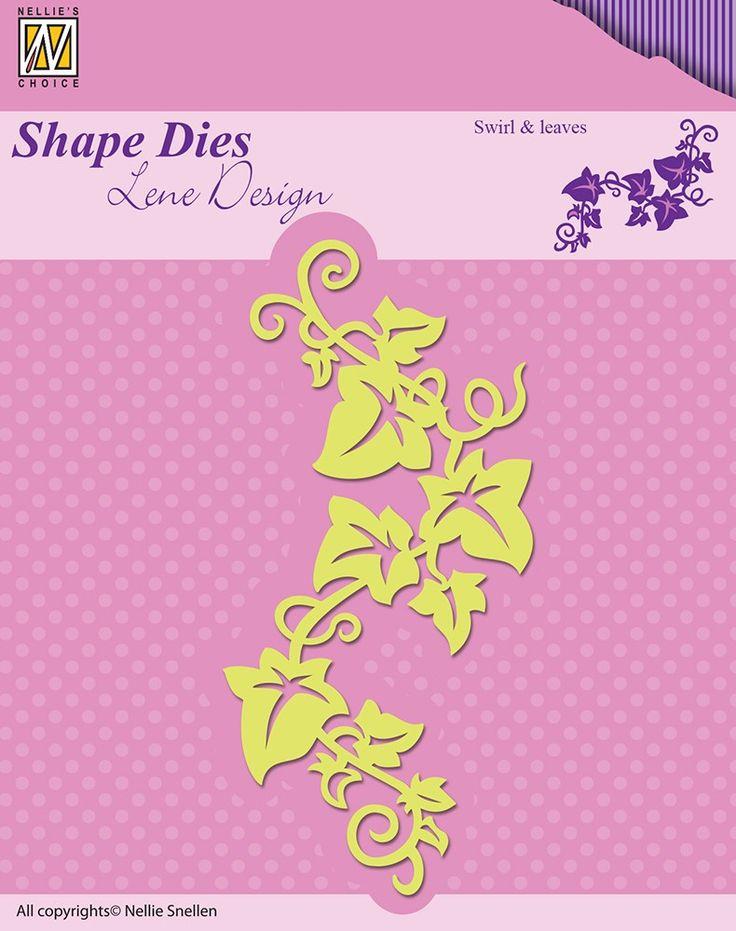 Nellie Snellen Shape Dies Lene Design Swirl and Leaves