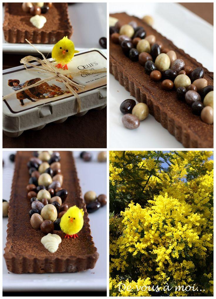 De vous à moi...: Tarte Chocolat et Caramel