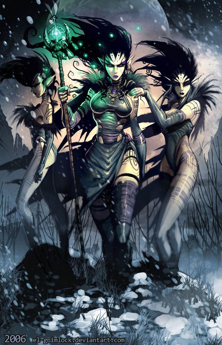 Three Witches by *el-grimlock on deviantART