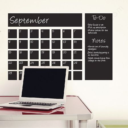 DIY Chalkboard wall calendar ideas