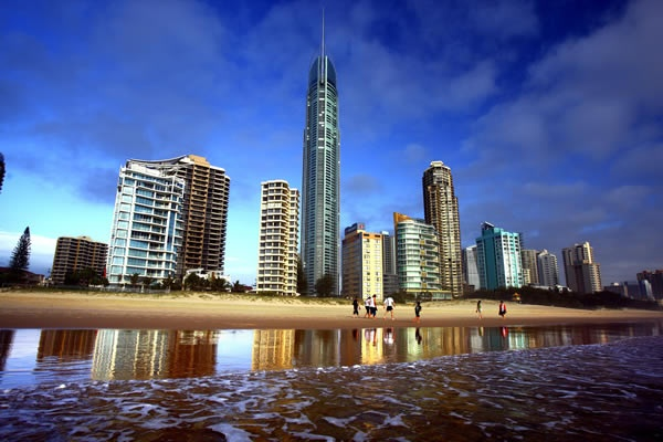 Gold Coast skyline and the Q1 tower.
