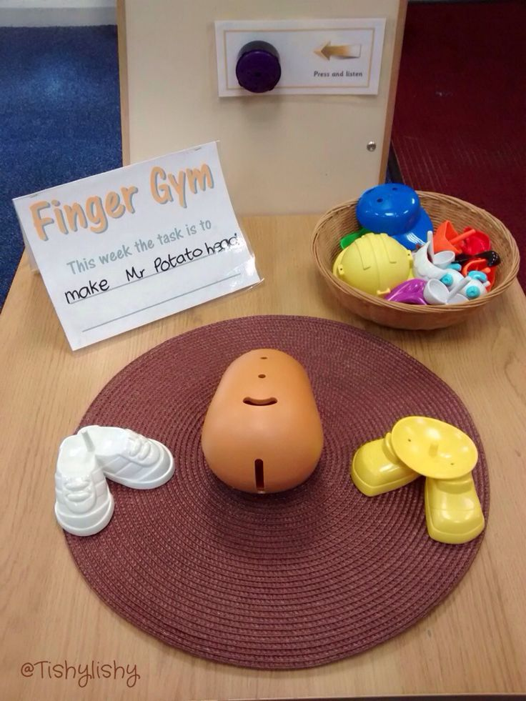 Mr Potato Head Finger Gym challenge