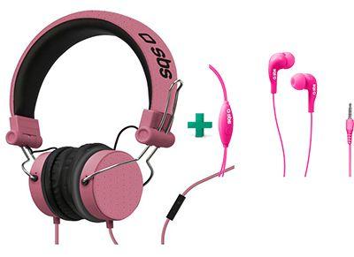 Ακουστικά Κεφαλής SBS Studio Mix Ροζ & SBS Studio Mix 10 Ροζ   Public