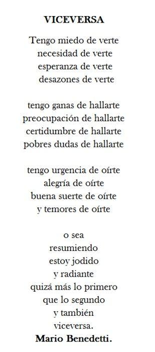 ...y también, viceversa by Benedetti #frases #amor