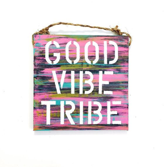 good vibe tribe / wood sign / sea gypsy california / gift / good vibes only / hippie / bohohemian
