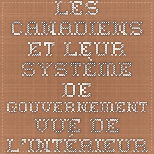 Les Canadiens et leur système de gouvernement - Vue de l'intérieur. Quels sont les points communs et les differences entre les systemes de gouvernement canadien et americain?