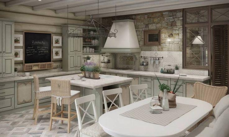 Дизайн интерьера дома в п.Зеленое: Столовые комнаты в Рустикальный. Автор - MJMarchdesign