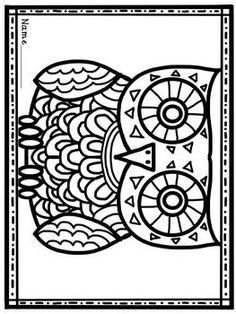 this would be a cute embroidery pattern owl coloring page