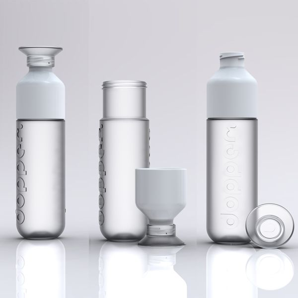 White Dopper water bottles