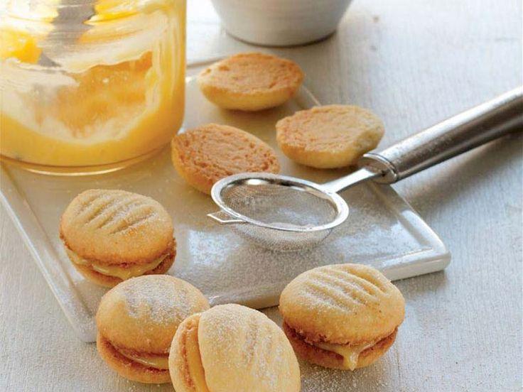 Limon kremalı bisküvi