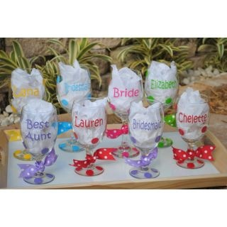 Bridal Party Glasses and glasses for special other people mrsmckenziesmonograms.com