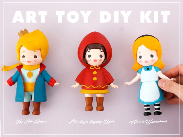 LOVELY ARTTOY ♥ You can color it with your taste! It suits my personal tastes alot :)   #Arttoy #3Dprinting #DIY #Coloring #3D #project #littleprince #RADON #Hobby #Alice #Redhood #cute #color #Redcap #littlefox #twenties #girl #boy #girls