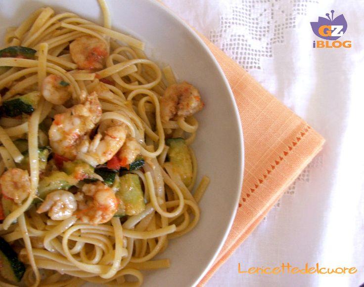 Pasta zucchine e gamberetti ricetta semplice