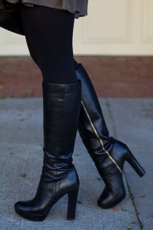 25  best ideas about Black leather boots on Pinterest | Black ...