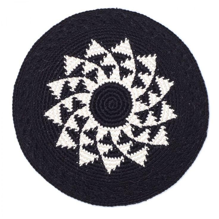 Fair Trade Handmade Tuxedo Kippot/Yarmulkes