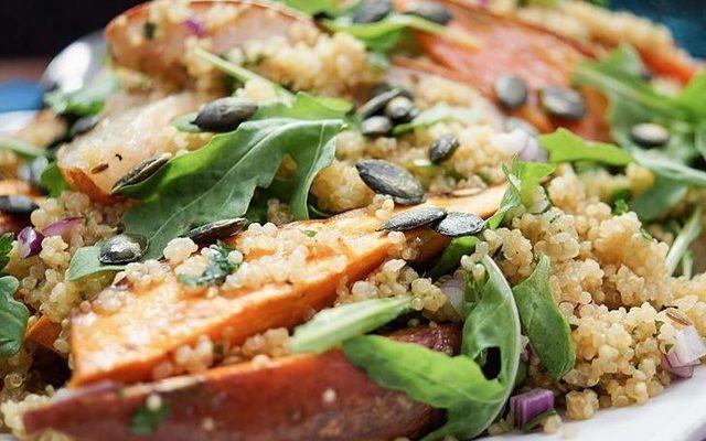 DIY-Anleitung: Süßkartoffel-Birnen-Salat mit Quinoa via DaWanda.com