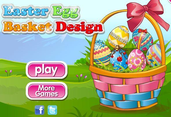 Easter Basket Design : A Páscoa está chegando! Neste jogo de decoração você pode fazer sua própria cesta de páscoa, e pintar seus próprios ovos! Escolha uma cesta e preenchê-lo com os enchimentos de sua escolha. Você pode preparar seis ovos, pintar e decorá-los como você gosta. Escolha entre muitos padrões, brilhos e fitas para deixá-los tão colorido quanto possível!