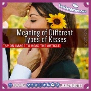 Meaning of Different Types of Kisses