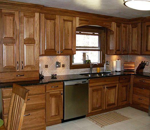Medium Brown Kitchen Cabinets