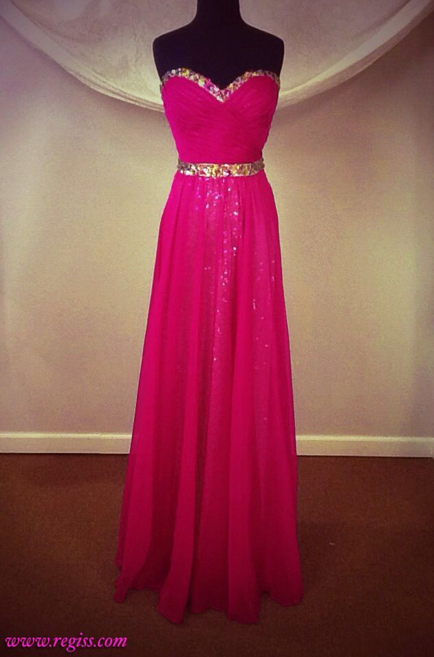 La Femme prom 2014 Regiss style number 14831, a magenta gown from La Femme's prom 2014 collection. I love the effect of the magenta chiffon overlaying a thick, gold-sequined, champagne-colored jersey underdress.  #regiss #Regiss #regissprom #Regissprom #regiss_prom #Regiss_prom #regissprom2014 #Regissprom2014 #regiss_prom_2014 #Regiss_prom_2014 #strapless #formal #swarovski #pleated #sweetheart #long #gold #pink #purple #chiffon #sequin #sequins
