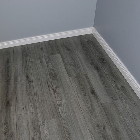 grey laminate flooring with grey walls, Origins 7mm Millennium Oak Grey Wooden Flooring Home