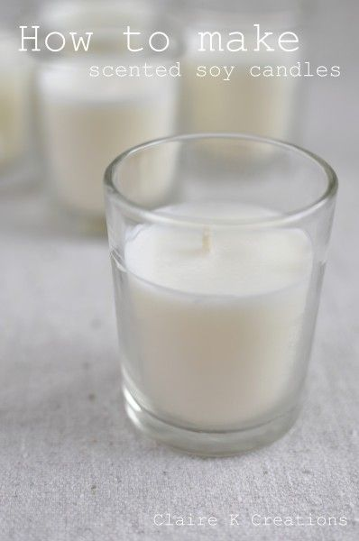 Scented soy candle tutorial. I'm making these as favors for my wedding, and I've been looking for a good tutorial on how to make little ones. :)
