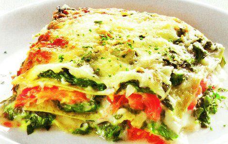 Lasagne se špenátem chutnají stejně báječně, jako ty klasické!